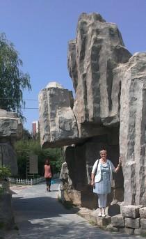 Grote stenen van de oude muur